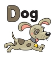 Little dog or puppy for ABC Alphabet D vector image