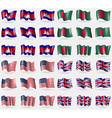 Cambodia Bangladesh USA United Kingdom Set of 36 vector image