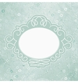 Vintage Elegant Valentines Card vector image vector image
