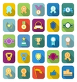 Award color icons with long shadow vector image