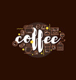cafe banner template design with lettering for vector image