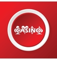 Casino icon on red vector image