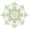 Damask Pattern Orient Colorful Ornament vector image