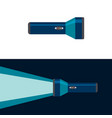 flashlight on and off position flat vector image