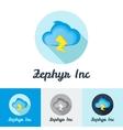 flat modern minimalistic cloud logo vector image