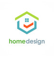 home design logo vector image