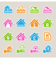 House insurance icons Set vector image