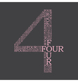 number four created from text vector image