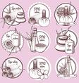 Sketch spa logos vector image