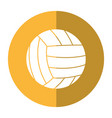 volleyball ball sport shadow vector image