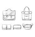 Set of different types bag vector image