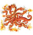 Dragon with twelve heads vector image