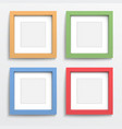 Color frame set on gray wall vector image vector image