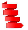 Red paper arrow vector image vector image