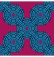 Violet ethnic mandala pattern background vector image vector image