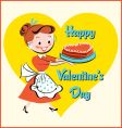 valentine cake vector image vector image