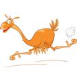 Cute Ostrich Cartoon Character vector image