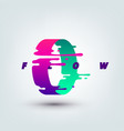 abstract colored 3d ring vector image
