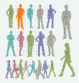 Abstract people silhouettes vector image
