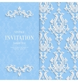 Blue Floral 3d Christmas and Invitation vector image