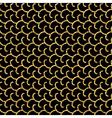 Cartoon waves geometric seamless pattern black vector image