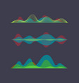 colored sound wave digital equalizer vector image