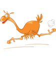Cute Ostrich Cartoon Character vector image