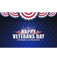 happy vererans day background design with cross vector image