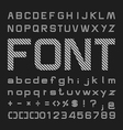 Line Alphabet font Type letters and numbers vector image