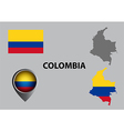 Map of Colombia and symbol vector image