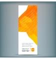 Modern banner with orange polygonal vector image