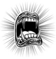 mouth open halloween monster vampire jaws fang vector image