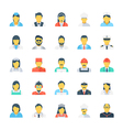 Professions Colored Icons 2 vector image