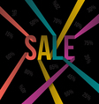 SALE text color ribbon style vector image