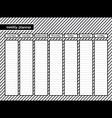weekly planner stripe grey color vector image