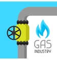 Gas control valve Industrial in flat vector image