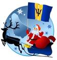 Merry Christmas Barbados vector image