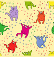 seamless pattern with amusing cats vector image vector image