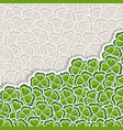 clover pattern for st patricks day vector image
