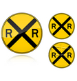 level crossing sign vector image