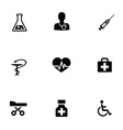 medical 9 icons set vector image