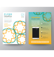 Brochure Flyer design Layout template in A4 size vector image