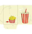 Template for folder with Soda drink vector image