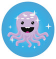 Octopus icon app mobile flat vector image
