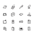 office element black icon set on white background vector image