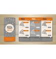 Pizza concept design Corporate identity vector image