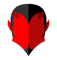 Red Devil icon Demon sign flat style Heck with vector image