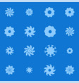 set of graphic floral or snowflakes elements vector image