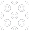 Smiling emoticons pattern vector image