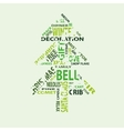 tree with text vector image